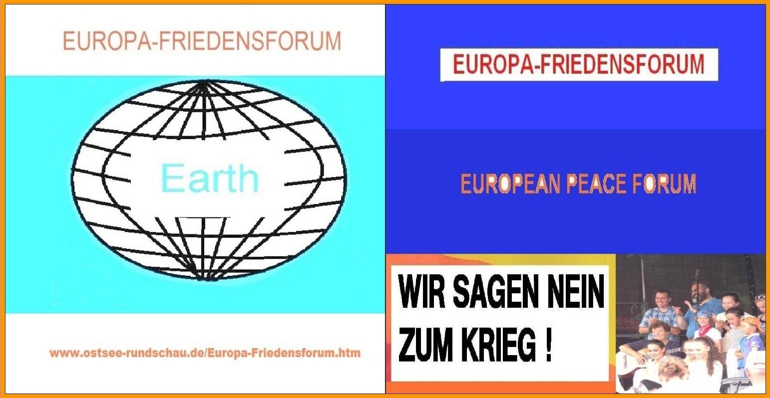 Europafriedensforum auf Ostsee-Rundschau.de - WIR SAGEN NEIN ZUM KRIEG! - Frieden und Abrüstung statt Konfrontation und Hochrüstung!
