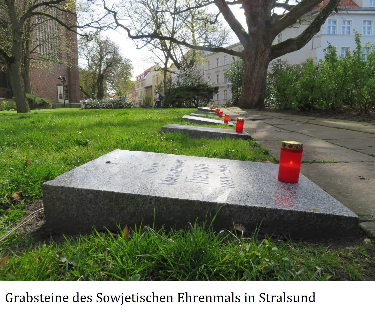 Feierliche Kranzniederlegung am 8. 5. 2021 am Sowjetischen Ehrenmal in Stralsund - Aus dem Posteingang von Siegfried Dienel vom 17.05.2021 - Abschnitt 4