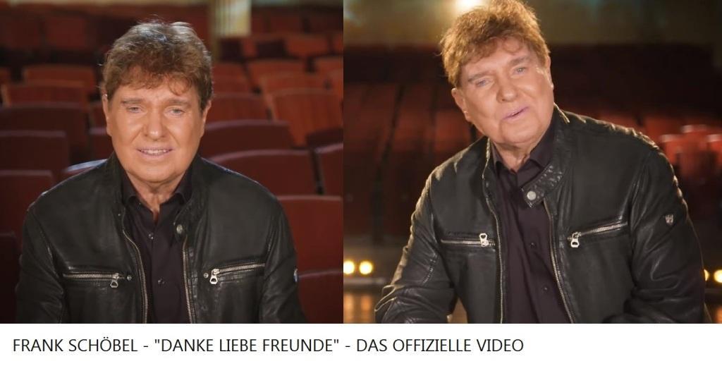 FRANK SCHÖBEL - 'DANKE LIEBE FREUNDE' - OFFIZIELLES VIDEO - Link: https://www.youtube.com/watch?v=AjuQO2Tz-EA