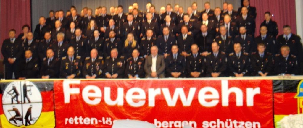Die  Kameradinnen und Kameraden der Freiwilligen Feuerwehr Ribnitz-Damgarten auf ihrer Jahreshauptversammlung am 29. März 2019 im Stadtkulturhaus Ribnitz-Damgarten. Foto: Eckart Kreitlow