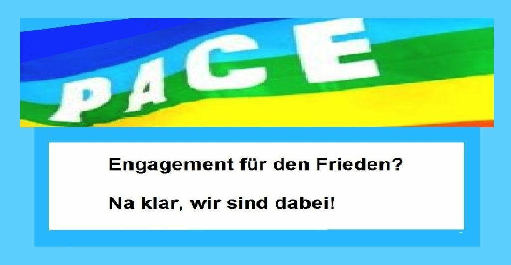 Wir unterstützen www.weltfriedenskonferenz.org! Engagement für den Frieden? Na klar, wir sind dabei! Grafik / Zeichnung: Eckart Kreitlow