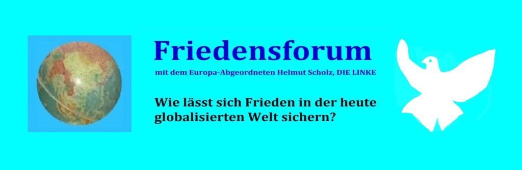 Friedensforum mit dem Europa-Abgeordneten Helmut Scholz am 24. April 2019 im Begegnungszentrum in Ribnitz-Damgarten