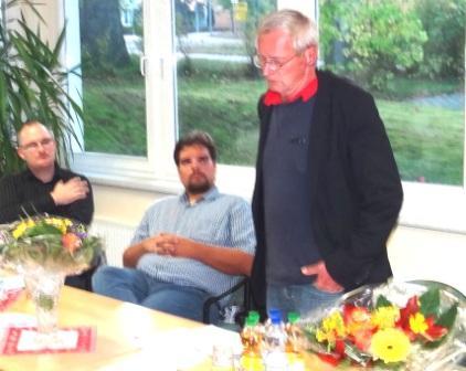 Friedensforum mit Dr. André Brie, Mitglied des Landtages von Mecklenburg-Vorpommern und Sprecher der Fraktion DIE LINKE für Europa- und Verbraucherschutzpolitik, am 6. Oktober 2014 in Ribnitz-Damgarten. Dr. André Brie ist auch Mitglied des Lenkungsausschusses des Petersburger Dialoges zwischen Russland und Deutschland. Foto: Eckart Kreitlow