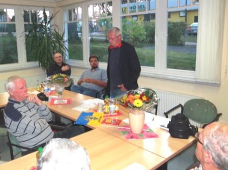 Friedensforum mit Dr. Andr� Brie, Mitglied des Landtages von Mecklenburg-Vorpommern und Sprecher der Fraktion DIE LINKE f�r Europa- und Verbraucherschutzpolitik, am 6. Oktober 2014 in Ribnitz-Damgarten. Dr. Andr� Brie ist auch Mitglied des Lenkungsausschusses des Petersburger Dialoges zwischen Russland und Deutschland. Foto: Eckart Kreitlow