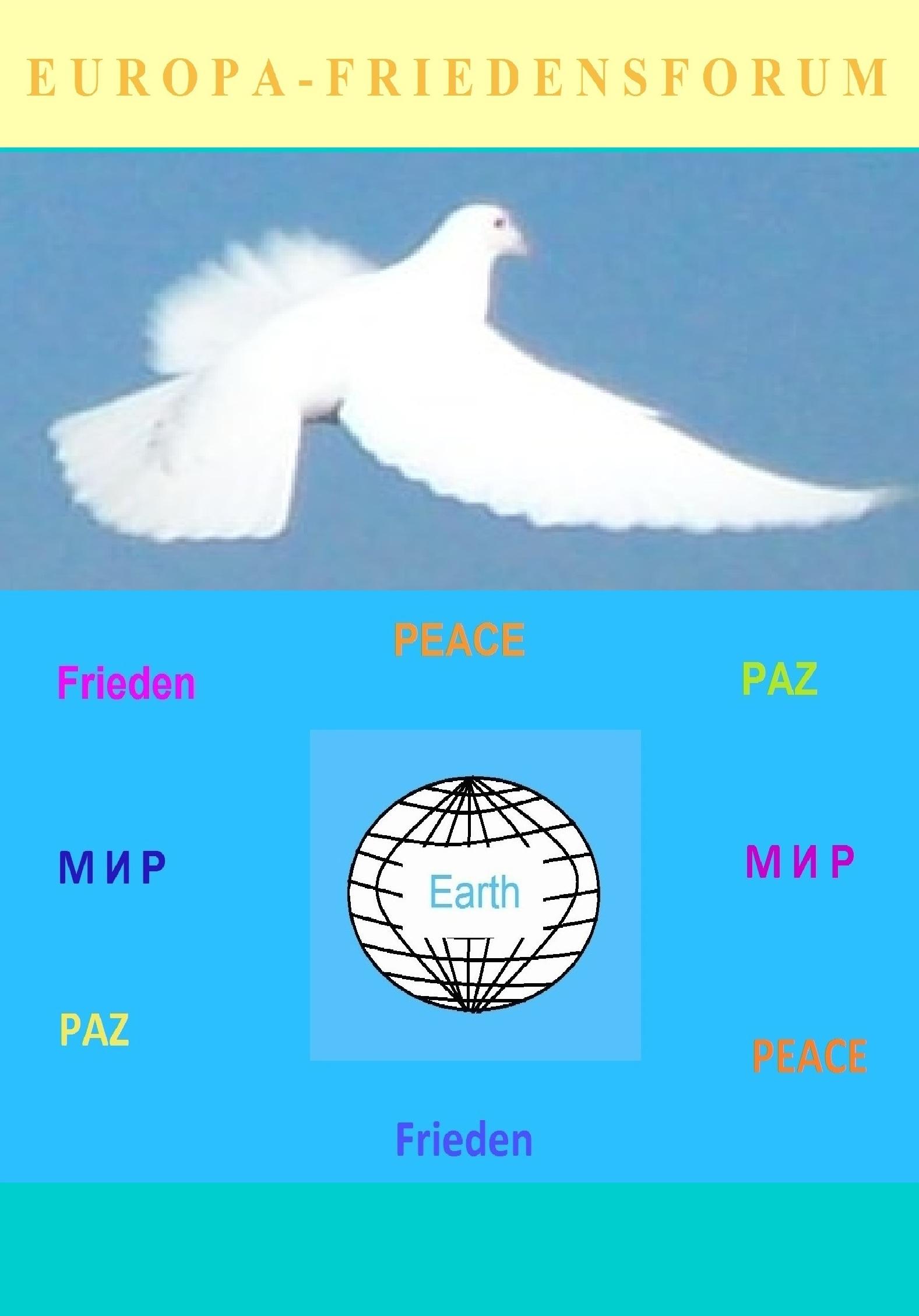 Europa-Friedensforum auf Ostsee-Rundschau.de - Frieden überall auf der Welt! - Grafik: Eckart Kreitlow