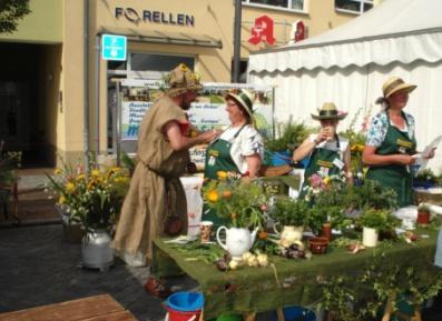 Verkaufsstand einer Gärtnerei auf dem MV-Tag in Ribnitz-Damgarten.  Foto: Eckart Kreitlow