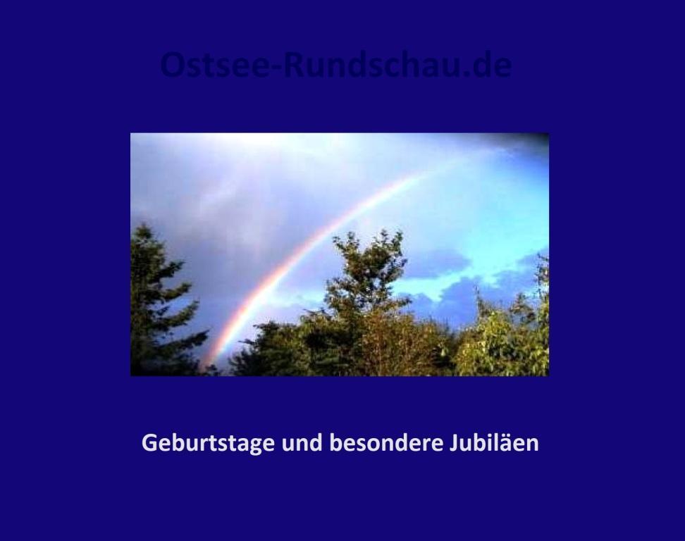 Geburtstage und besondere Jubiläen - Ostsee-Rundschau.de