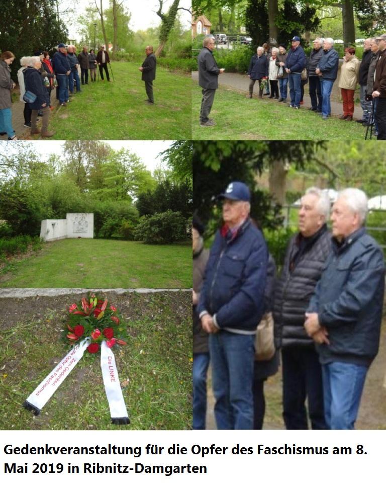 Gedenkveranstaltung für die Opfer des Faschismus am 8. Mai 2019 in Ribnitz-Damgarten