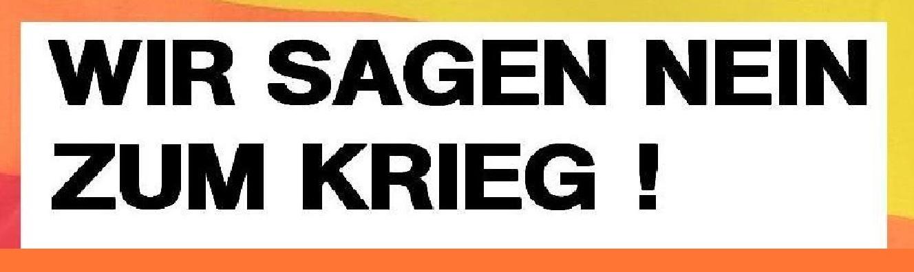 Schriftzug WIR SAGEN NEIN ZUM KRIEG! auf dem unteren Teil der Regenbogenfahne PACE der internationalen Friedensbewegung, die auch beim 10.Internationalen Friedensfest am 3.August 2013 in Ostseebad Graal-Müritz in Mecklenburg-Vorpommern wehte. Fotobearbeitung: Eckart Kreitlow