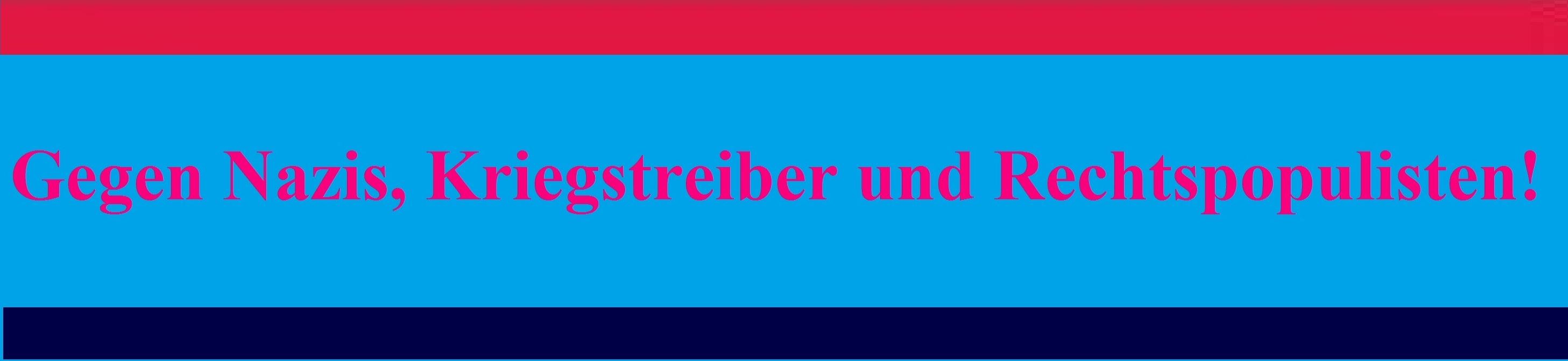 Gegen Nazis, Kriegstreiber und Rechtspopulisten! Ostsee-Rundschau.de . Neue Unabhängige Onlinezeitungen (NUOZ) - vielseitig, informativ und unabhängig.