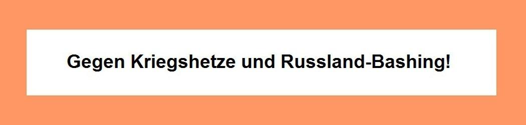 Gegen Kriegshetze und Russland-Bashing - Ostsee-Rundschau.de