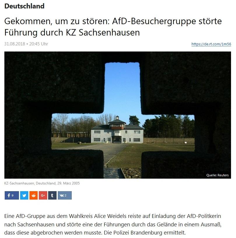 Deutschland - Gekommen, um zu stören: AfD-Besuchergruppe störte Führung durch KZ Sachsenhausen