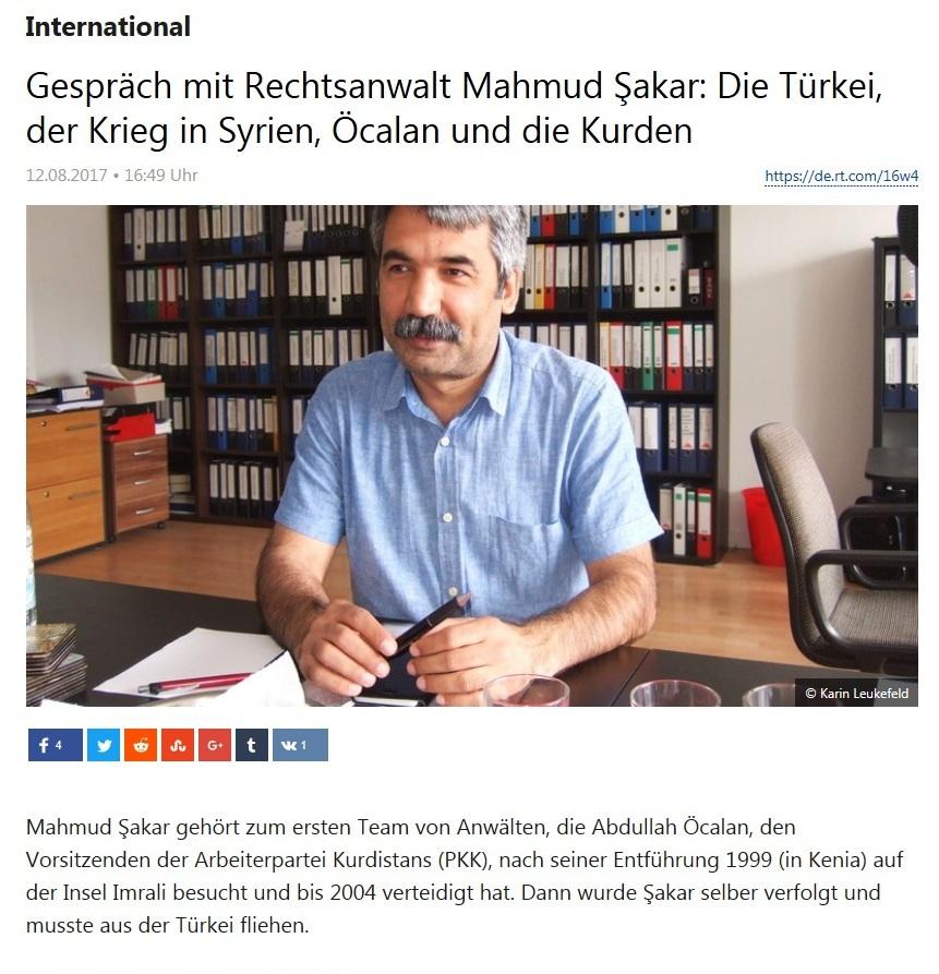 Gespräch mit Rechtsanwalt Mahmud Şakar: Die Türkei, der Krieg in Syrien, Öcalan und die Kurden