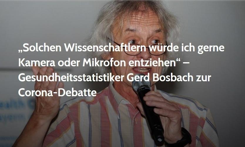 Aus dem Posteingang - 'Solchen Wissenschaftlern würde ich gerne Kamera oder Mikrofon entziehen' – Gesundheitsstatistiker Gerd Bosbach zur Corona-Debatte - NachDenkSeiten - 26. März 2020