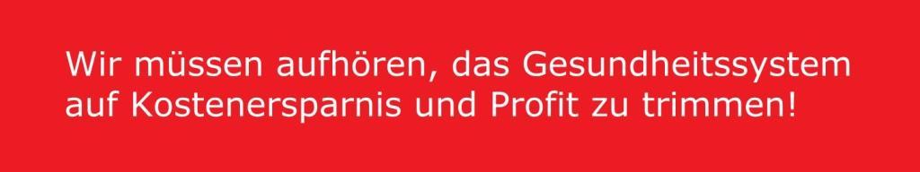 Aus dem Posteingang -  [Mitgliederbrief] - Aus dem Brief des Bundesgeschäftsführers der Partei DIE LINKE Jörg Schindler an die Mitglieder der Partei DIE LINKE:  Wir müssen aufhören, das Gesundheitssystem auf Kostenersparnis und Profit zu trimmen.