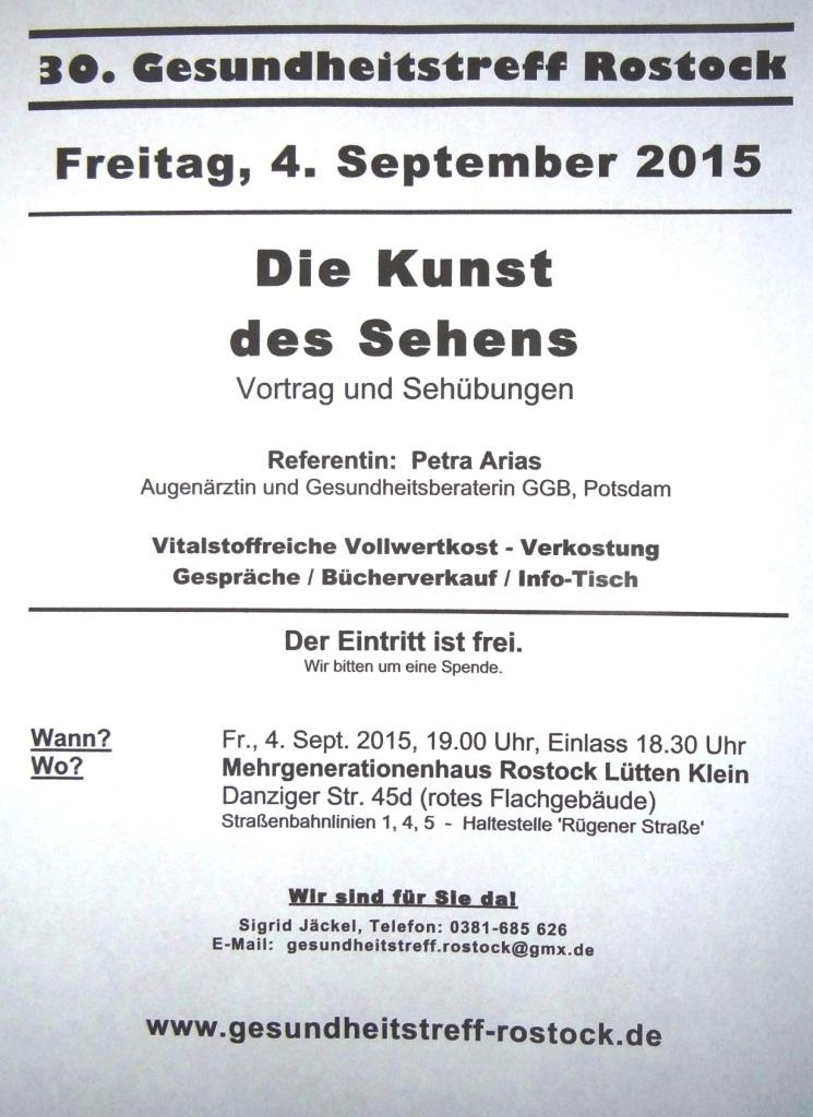 Der Gesundheitstreff Rostock lädt ein: Die Kunst des Sehens