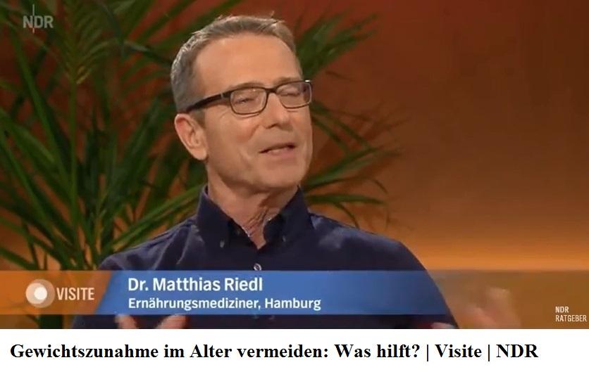 Gewichtszunahme im Alter vermeiden: Was hilft?   Visite mit Dr. Matthias Riedl, Ernährungsmediziner, Hamburg   NDR Ratgeber
