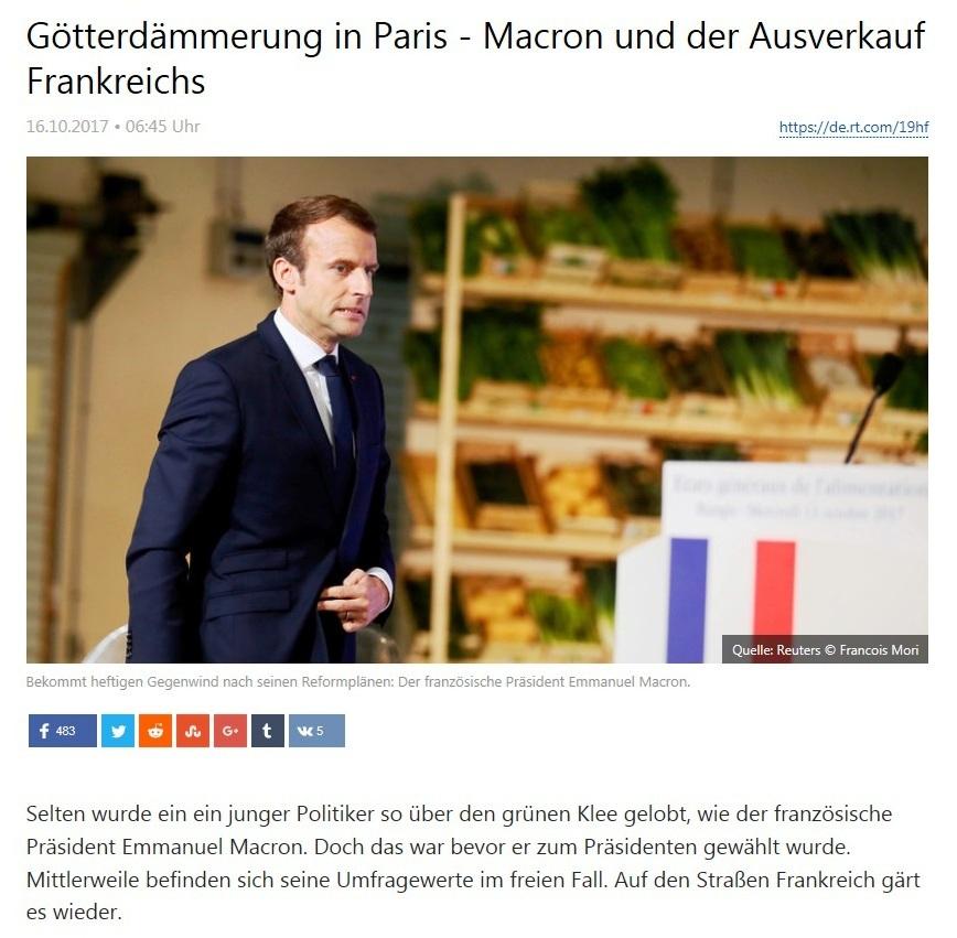 Götterdämmerung in Paris - Macron und der Ausverkauf Frankreichs