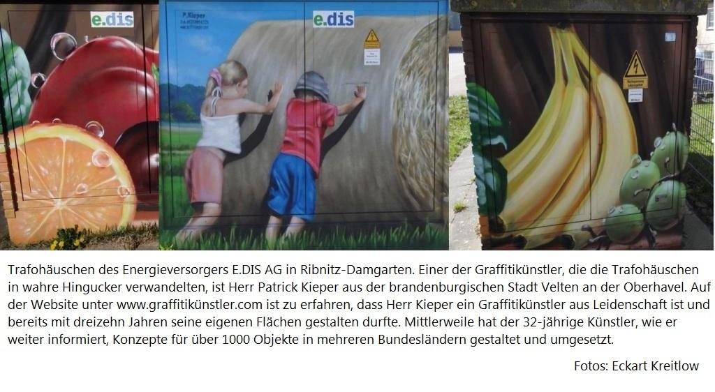 Graffitikünstler mit und ohne 'Gänsefüßchen'! - Fotos: Eckart Kreitlow
