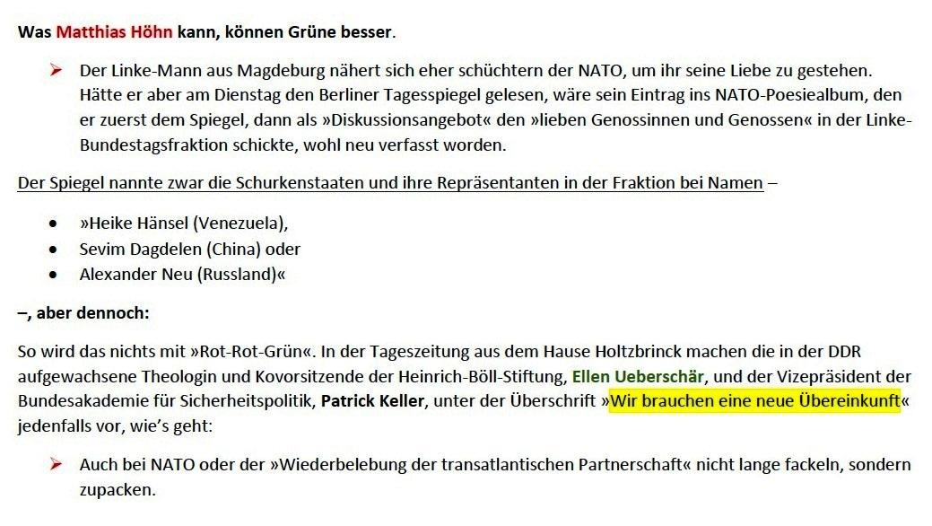 Grüner Glutkern - Von Arnold Schölzel - Aus Tageszeitung junge Welt: Ausgabe vom 23.01.2021, Seite 3 (Beilage) / Wochenendbeilage - Aus dem Posteingang von Siegfried Dienel vom 25.01.2021 - Abschnitt 2 von 4 Abschnitten