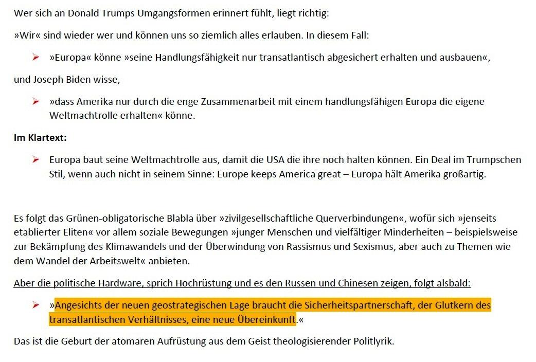 Grüner Glutkern - Von Arnold Schölzel - Aus Tageszeitung junge Welt: Ausgabe vom 23.01.2021, Seite 3 (Beilage) / Wochenendbeilage - Aus dem Posteingang von Siegfried Dienel vom 25.01.2021 - Abschnitt 3 von 4 Abschnitten