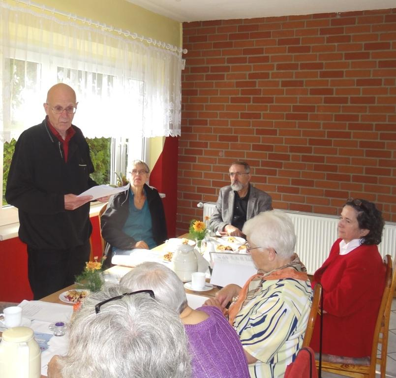 VVN-BdA-Veranstaltung mit Professor Georg Fülberth aus Marburg  zum Thema  Kapitalismus - Faschismus - Antifaschismus am 12.September 2015 in Stralsund. Foto: Eckart Kreitlow
