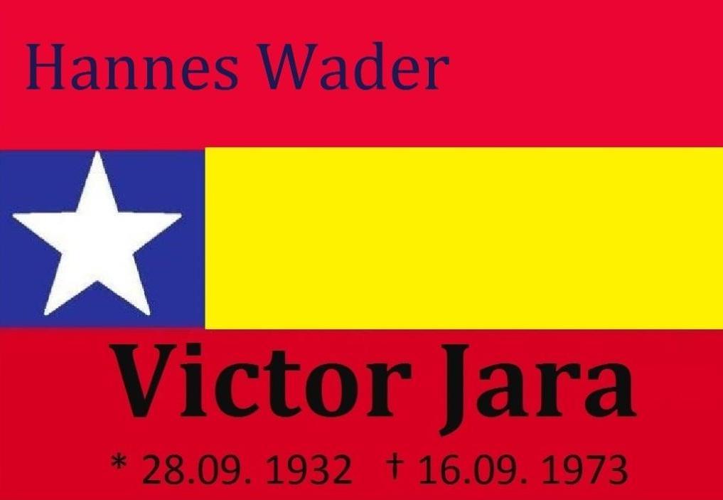 Hannes Wader - Victor Jara - Venceremos - Victor Jara war ein chilenischer Sänger, Musiker und Theaterregisseur. Er wurde am 12. September 1973 verhaftet und am 16. September 1973 mit mindestens 44 Schüssen von Soldaten des am 11. September 1973 putschenden Militärs ermordet.
