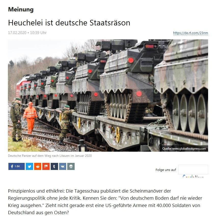 Meinung - Heuchelei ist deutsche Staatsräson