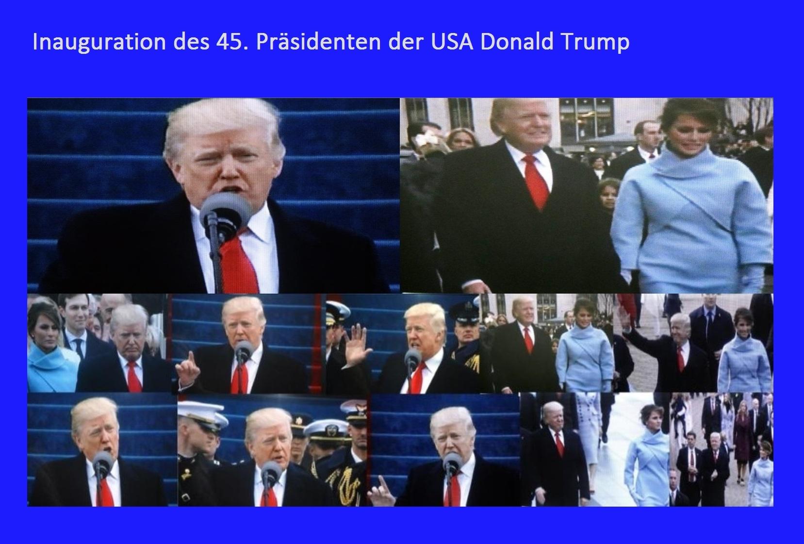 Bilder von der Amtseinführung, auch Inauguration genannt, des 45. Präsidenten der USA Donald Trump am 20.Januar 2017 in der US-Hauptstadt Washington, D.C.