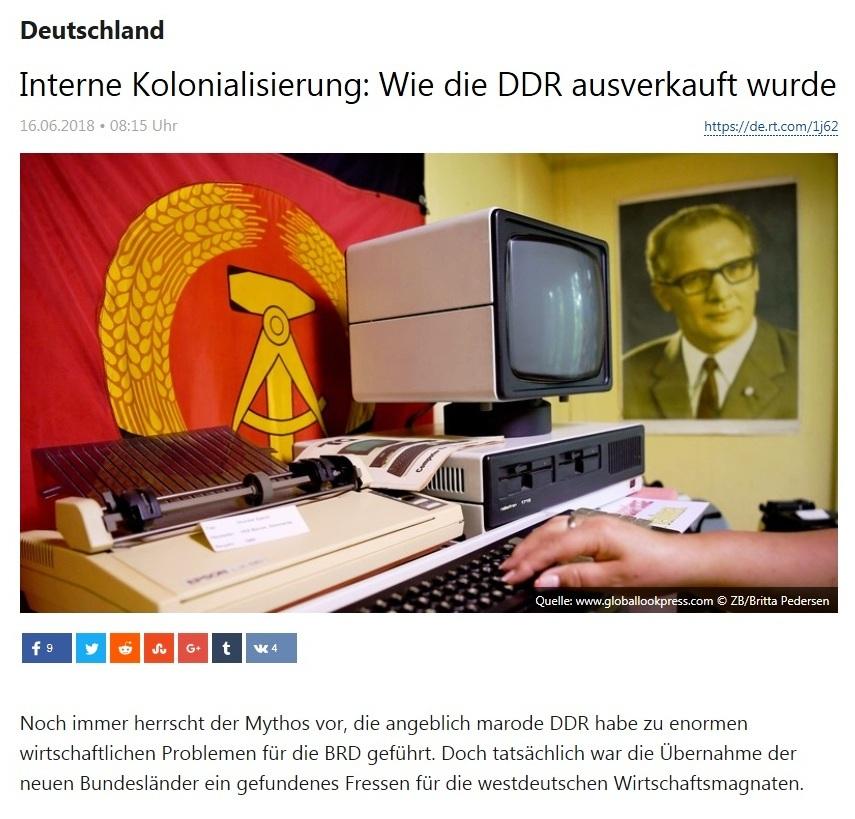 Deutschland - Interne Kolonialisierung: Wie die DDR ausverkauft wurde - Die DDR war ein gefundenes Fressen für westdeutsche Wirtschaftsmagnaten.