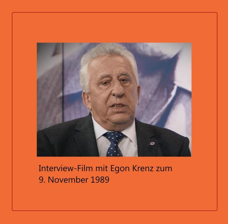 Interview-Film mit Egon Krenz zum 9. November 1989