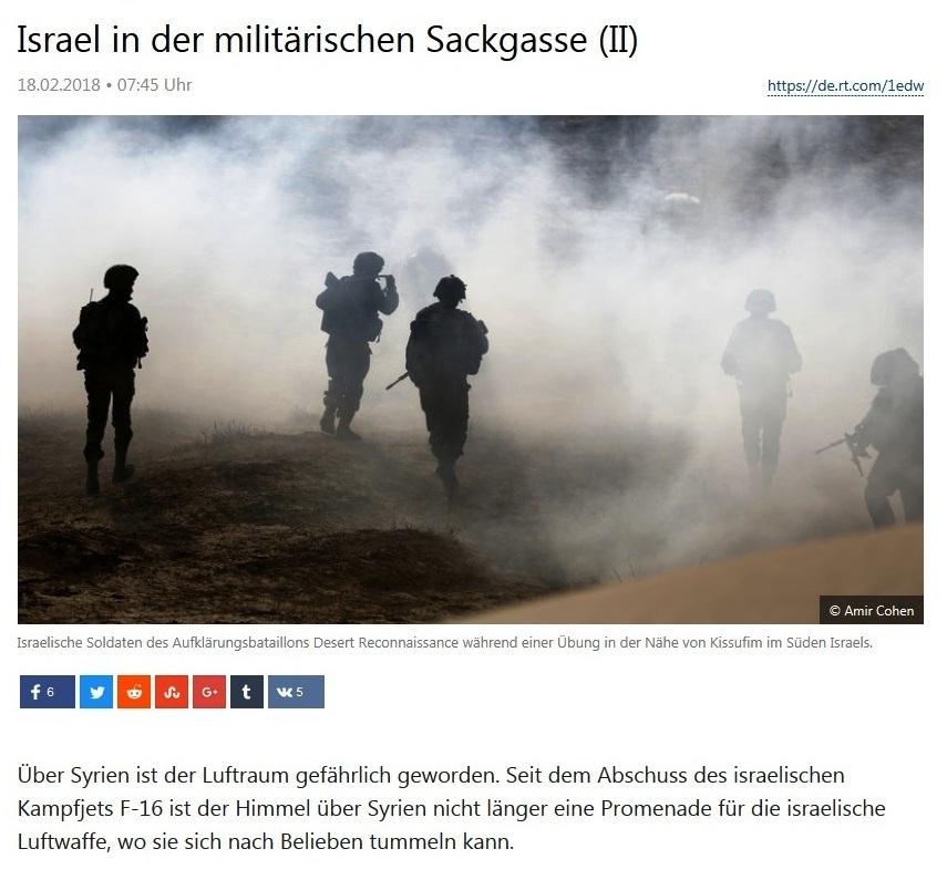 Israel in militärischer Sackgasse - Teil II - von Rainer Rupp