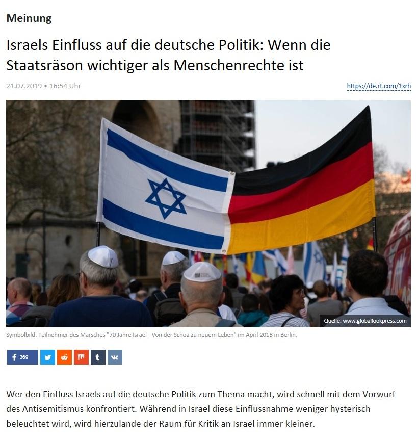 Meinung - Israels Einfluss auf die deutsche Politik: Wenn die Staatsräson wichtiger als Menschenrechte ist