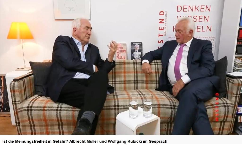 Ist die Meinungsfreiheit in Gefahr? Albrecht Müller und Wolfgang Kubicki im Gespräch