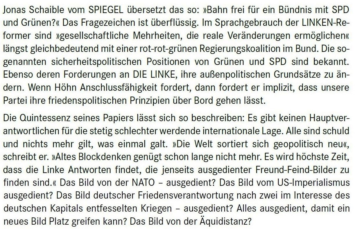 Aus dem Posteingang von Dr. Marianne Linke -  Stellungnahme der Kommunistische Plattform der Linkspartei zu dem Papier von Matthias Höhn - PDF - Abschnitt 3