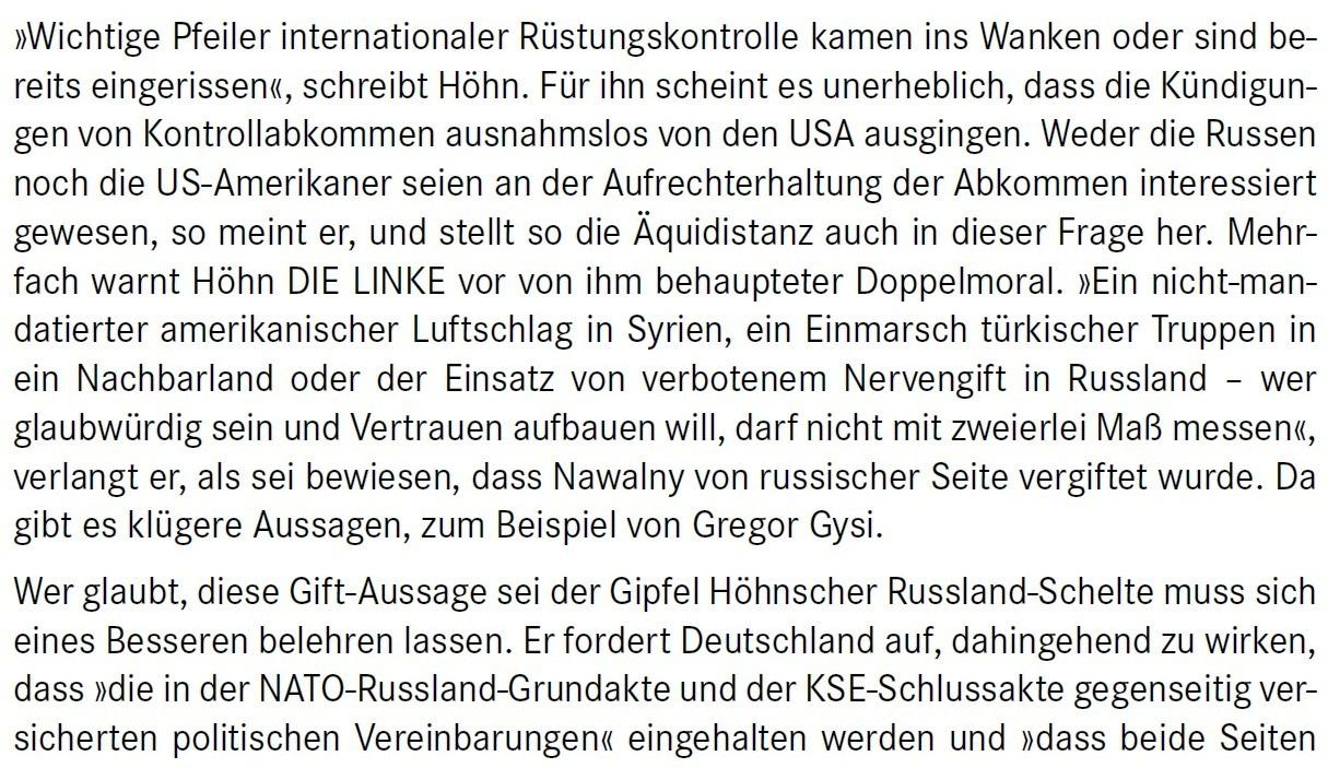 Aus dem Posteingang von Dr. Marianne Linke -  Stellungnahme der Kommunistische Plattform der Linkspartei zu dem Papier von Matthias Höhn - PDF - Abschnitt 5