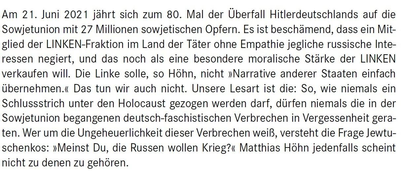 Aus dem Posteingang von Dr. Marianne Linke -  Stellungnahme der Kommunistische Plattform der Linkspartei zu dem Papier von Matthias Höhn - PDF - Abschnitt 7