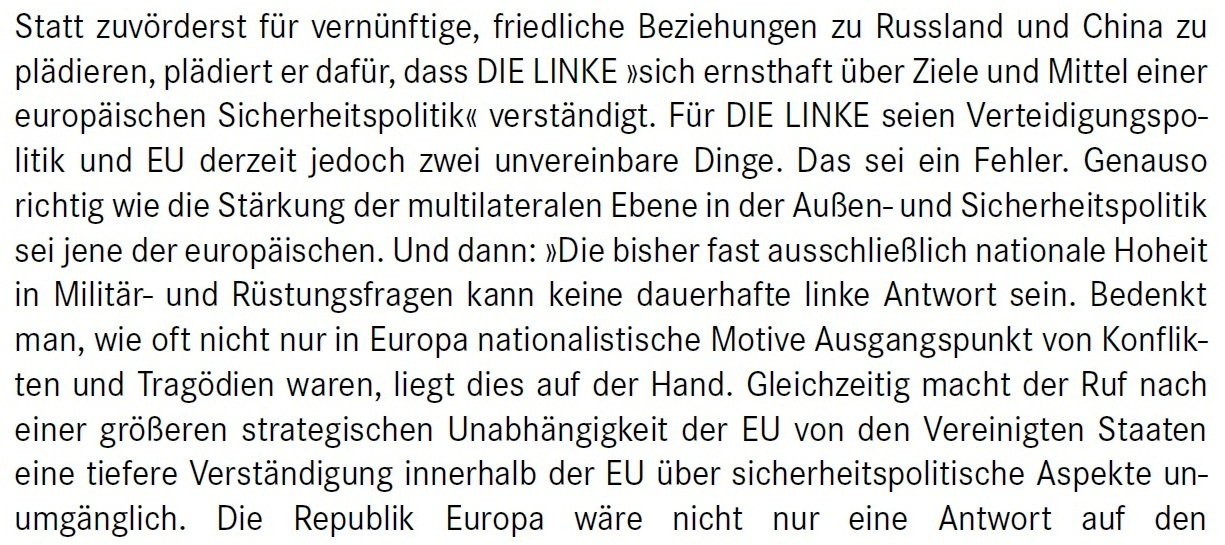 Aus dem Posteingang von Dr. Marianne Linke -  Stellungnahme der Kommunistische Plattform der Linkspartei zu dem Papier von Matthias Höhn - PDF - Abschnitt 8