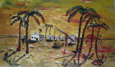 Gemälde mit Palmen auf der schönen Karibikinsel Kuba. Foto: Eckart Kreitlow