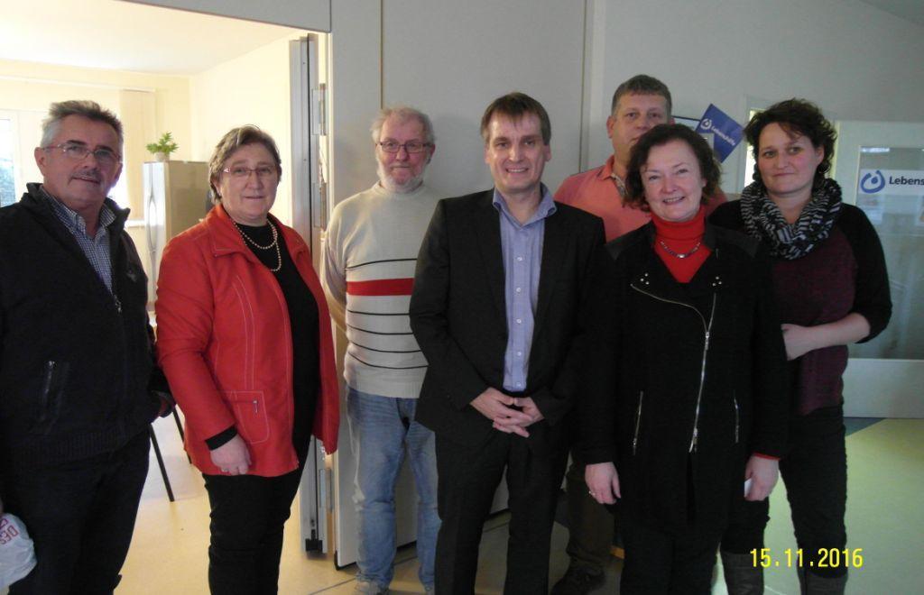 Bundestagsabgeordnete Kerstin Kassner zu Gast bei der Lebenshilfe e. V. in Barth. Foto: privat