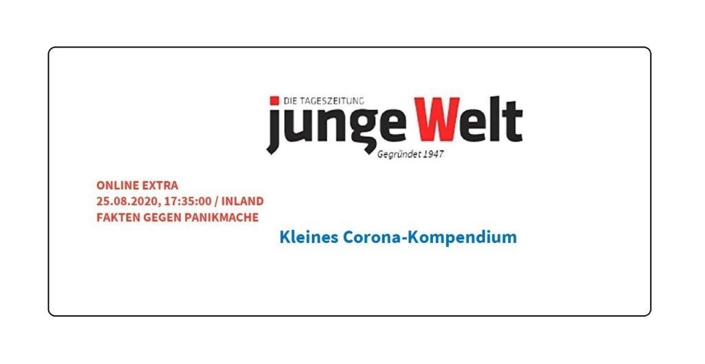 Aus dem Posteingang von Siegfried Dienel - Junge Welt - Sonderausgabe vom 25.08.2020 - Kleines Corona-Kompendium - PDF