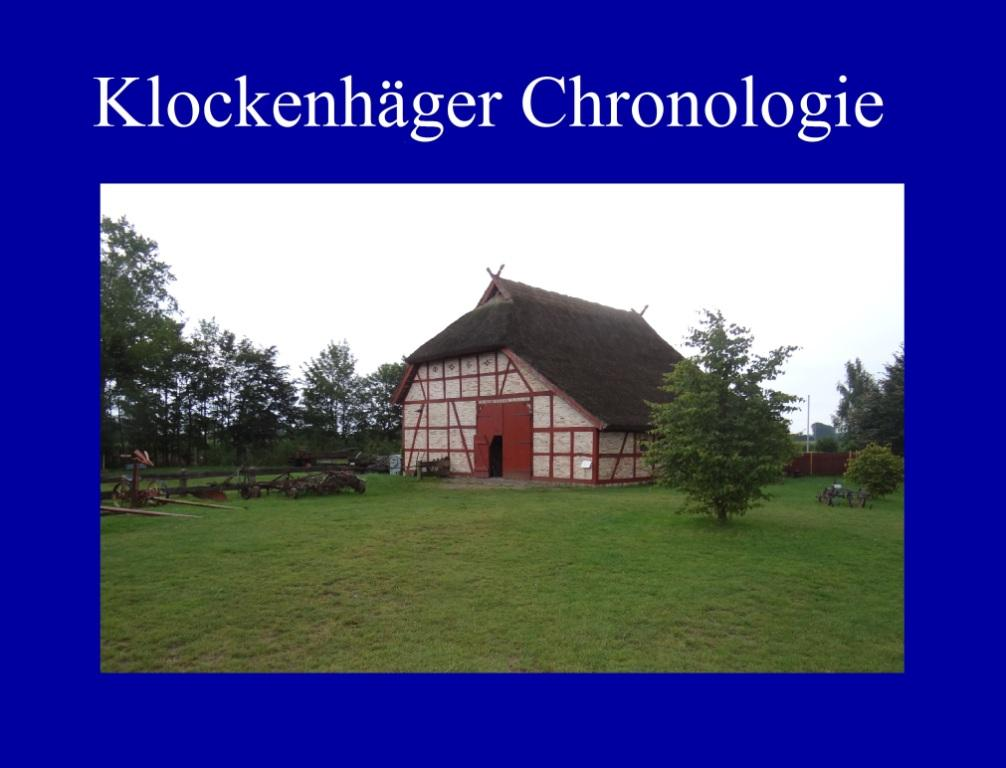 Klockenhäger Chronologie und Geschichte