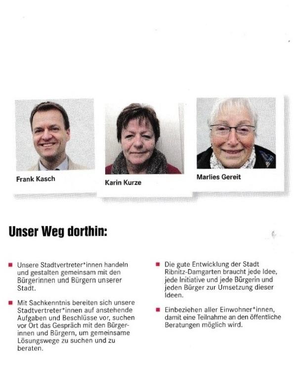 Für eine sozial gerechte Stadt - DIE LINKE - Unsere Kandidaten für die Kommunalwahl am 26. Mai 2019 für die Stadtvertretung der Bernsteinstadt Ribnitz-Damgarten - 3