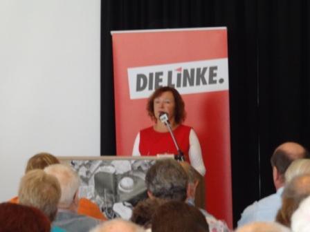 Bilder von der 3. Tagung des 2. Kreisparteitages des Kreisverbandes DIE LINKE Vorpommern-Rügen am Samstag, dem 14.September 2013, im Parkhotel in Bergen auf Rügen. Foto: Eckart Kreitlow