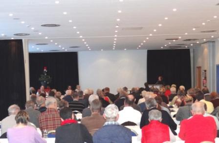Fotos von der Gesamtmitgliederversammlung und 2. Tagung des 1. Kreisparteitages des Kreisverbandes der Partei DIE LINKE Vorpommern-Rügen am 8.Dezember 2012 im Parkhotel Rügen in Bergen auf Rügen. Foto: Eckart Kreitlow