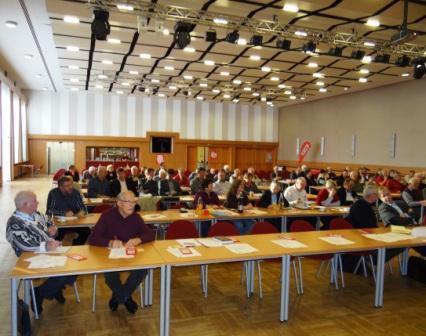 DIE LINKE. Vorpommern-R�gen f�hrte am Samstag, dem 9. Februar 2013,  im Kulturhaus Treffpunkt Europas in Grimmen die 1.Tagung des 2.Kreisparteitages durch. Foto: Eckart Kreitlow