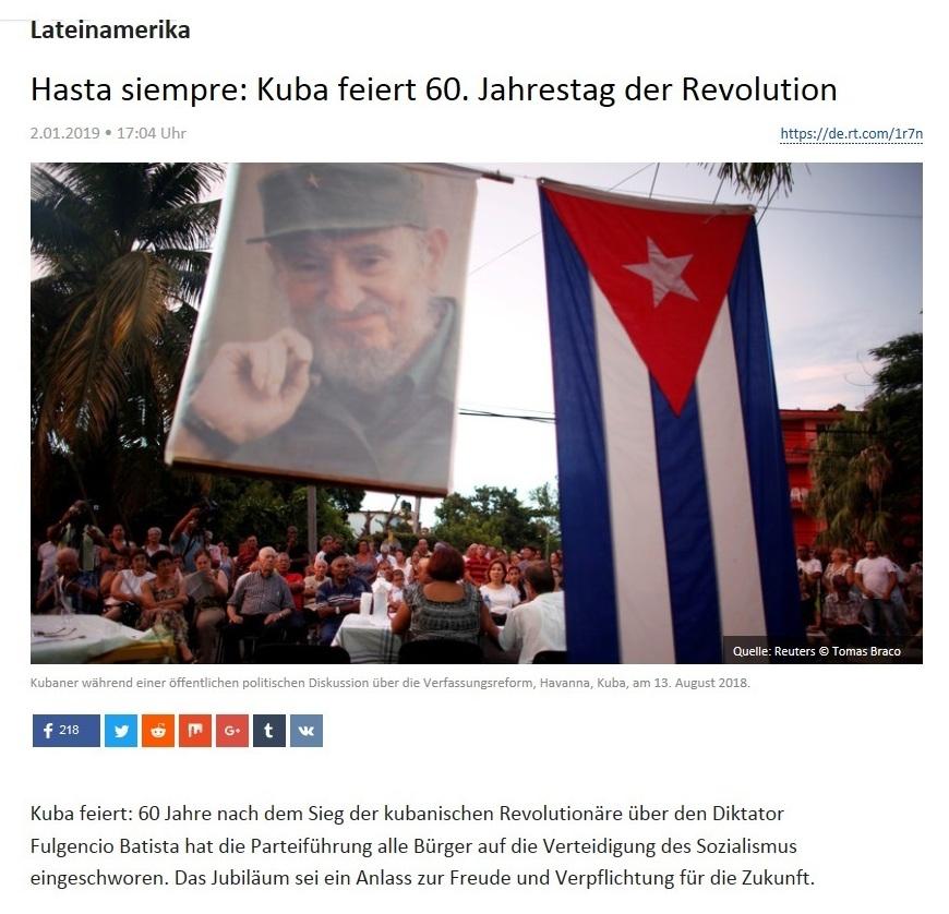 Lateinamerika - Hasta siempre: Kuba feiert 60. Jahrestag der Revolution