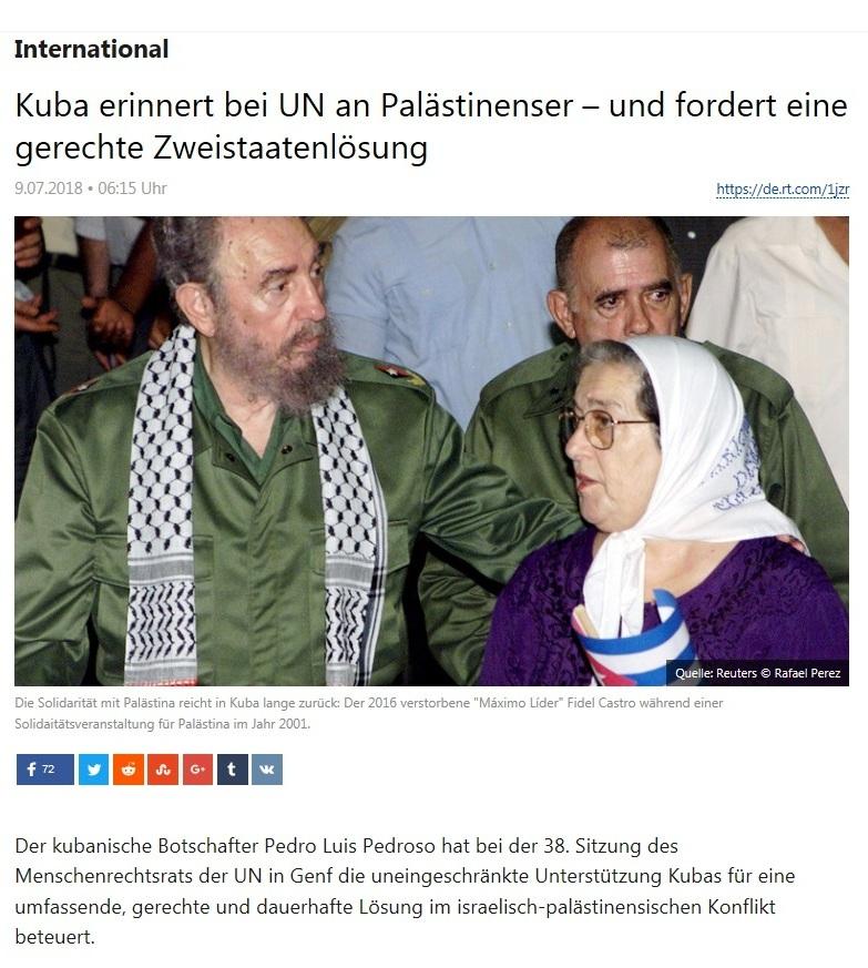 International - Kuba erinnert bei UN an Palästinenser – und fordert eine gerechte Zweistaatenlösung