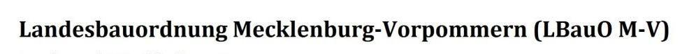 Landesbauordnung Mecklenburg-Vorpommern (LbauO M-V) - PDF