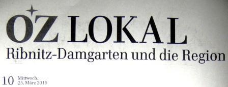 Leserbrief vom 19.März 2015 zum so genannten Sozial-Ermittlungsdienst bzw. Schnüffeldienst an die Ostsee-Zeitung, erschienen in der Ribnitz-Damgartener Ausgabe der OZ am 25.März 2015